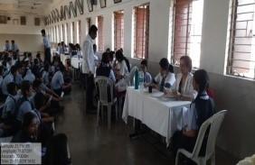 Oral health awareness camp at R.S mundle school