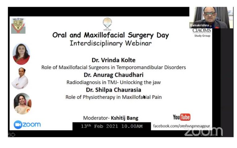 Dr. Ramakrishna Shenoi Vice Dean and Head of the Department of Oral & Maxillofacial Surgery addressing the session