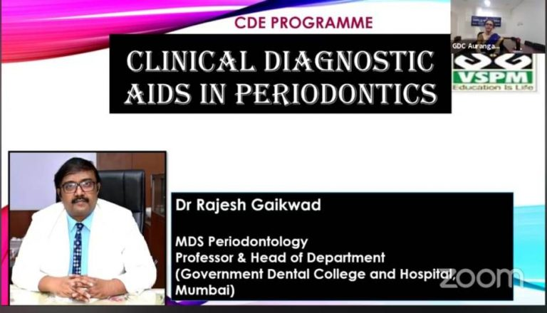 Guest speaker Dr Rajesh Gaikwad conducted lecture on Clinical diagnostic aids in periodontics