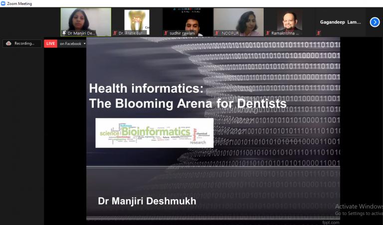 Dr. Manjiri Deshmukh expressing her views on Health Informetics- The blooming arena for dentist
