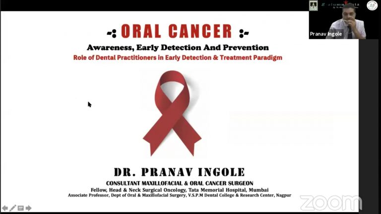 Dr. Pranav Ingole, sharing his views on the role of early detection of Oral Cancer