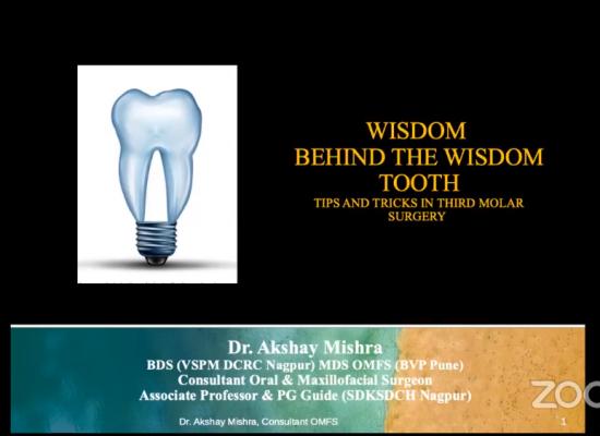 Dr Akshay Mishra, Sharing the wisdom behind third molar surgery