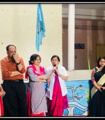 Hon. Dean Ma'am hoisted the University Flag