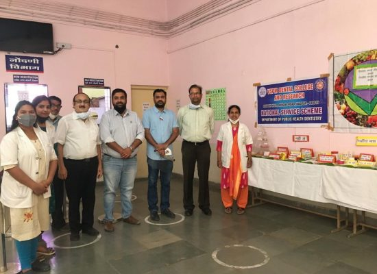 Organizing team of Exhibition on balanced diet and nutrition