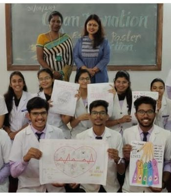 POSTER MAKING AND ESSAY WRITING COMPETITION WAS ORGANIZED BY TEAM SWA ON ORGAN DONATION