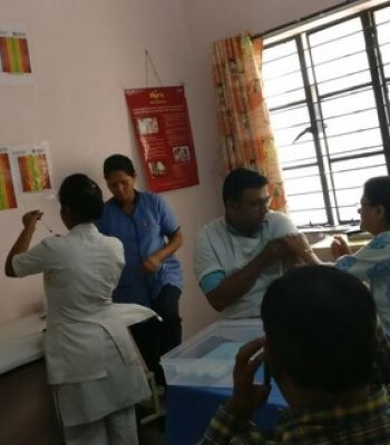 SWA had arranged small vaccination camp in college on for students