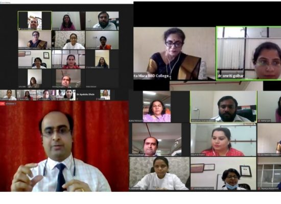 Speakers addressing the sessions of webinar series TELEDENTISTRY - NEED OF THE HOUR